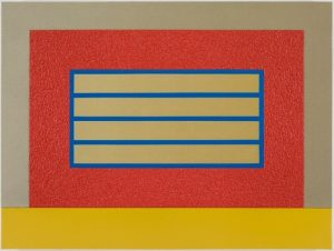 red horizontal prison by peter halley